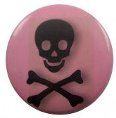 Skull - 'Pink' Button Badge